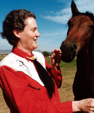 temple grandin with horse