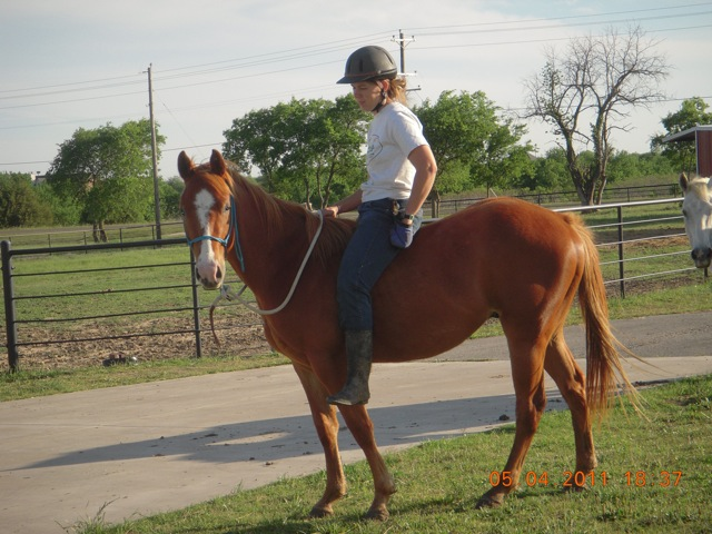 Riding Tex the Pony