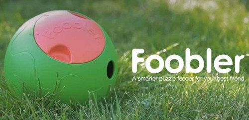 foobler - interactive dog puzzle toy