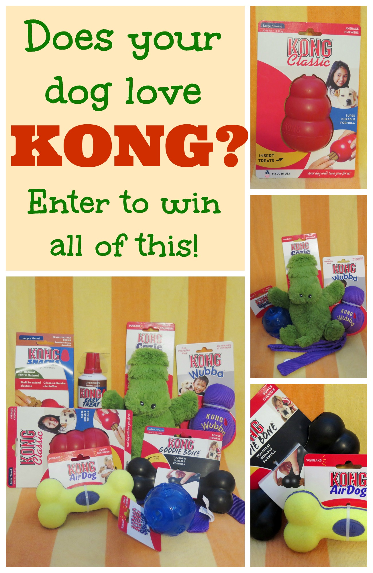 KONG enter to win picture collage