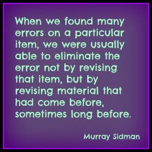Siman - revising errors