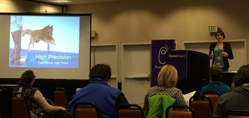 Hannah Branigan talking at ClickerExpo