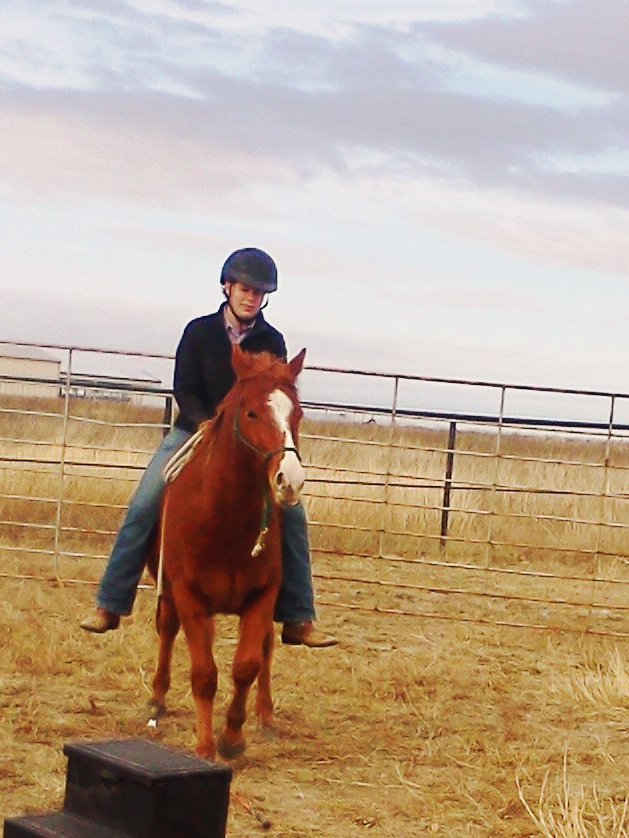 Riding the pony Tex