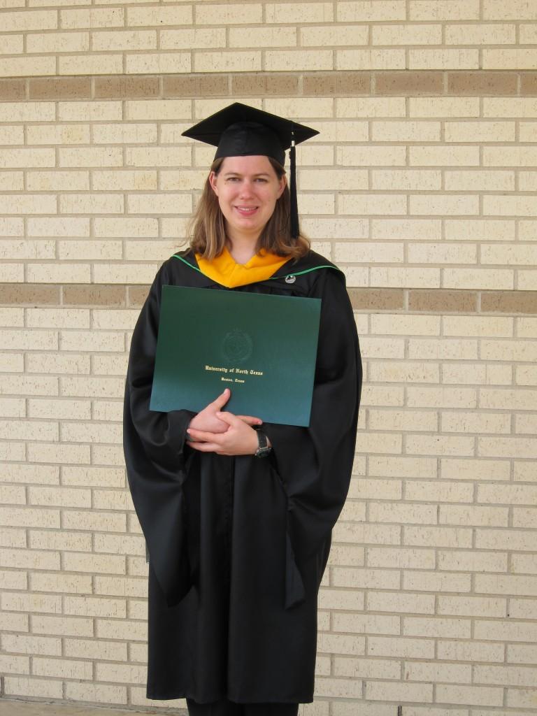 Mary Hunter - UNT graduation